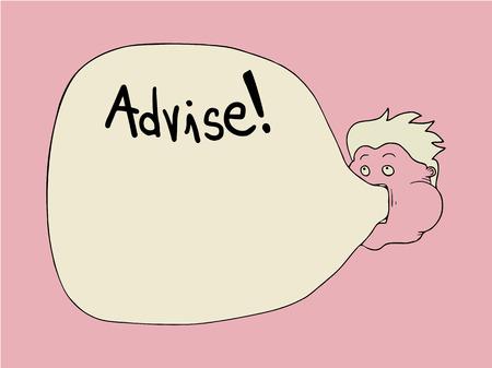 advise: advise symbol illustration