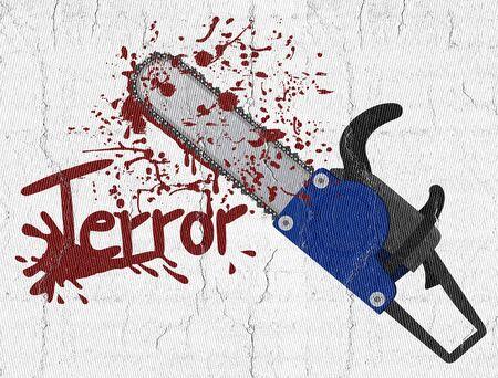 chainsaw: Terror chainsaw Stock Photo