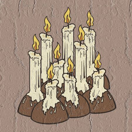 arsonist: Many candles