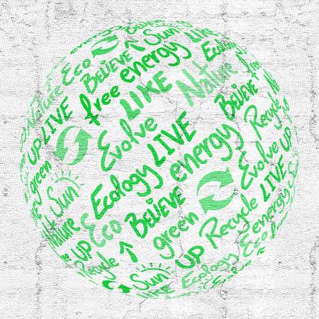 nonpolluting: green globe art
