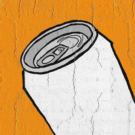 gaseous: Orange cans Stock Photo