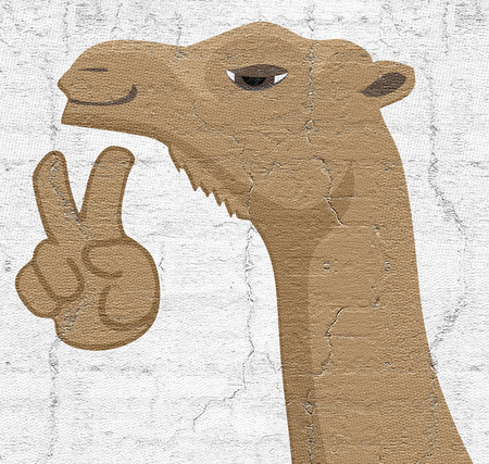 cartoon camel: Happy camel