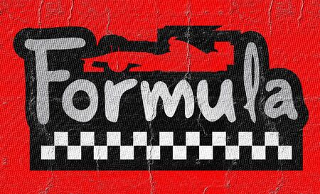 formula car: Formula car symbol Stock Photo
