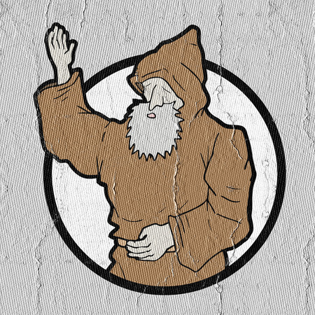 appear: icon monk Stock Photo