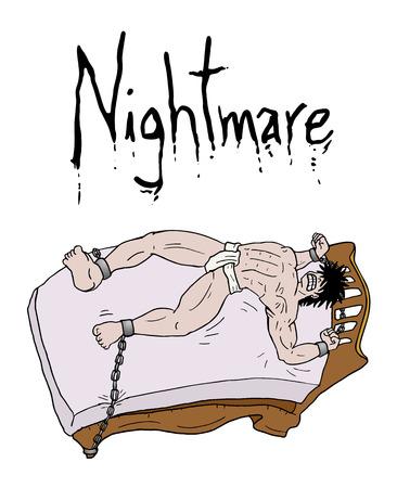 nightmare: crazy nightmare illustration Illustration