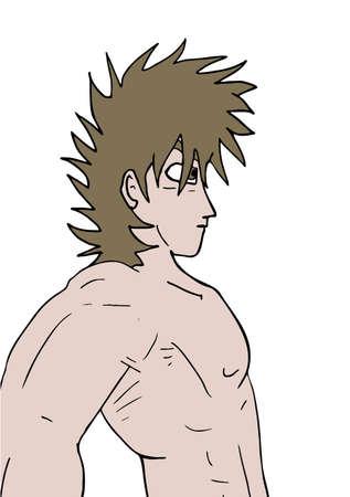 sexy men: muscle man draw Illustration