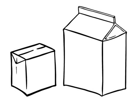 boxs: two paperboard boxs Illustration