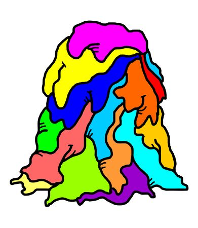 melted: color melted figure