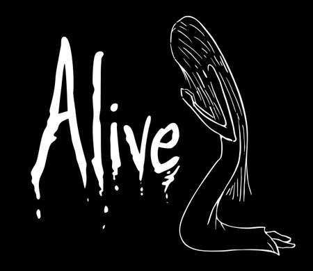 alive: alive message Illustration