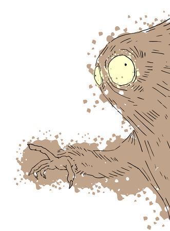 dientes sucios: monstruo imaginativa