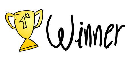 winners: winner sign Illustration