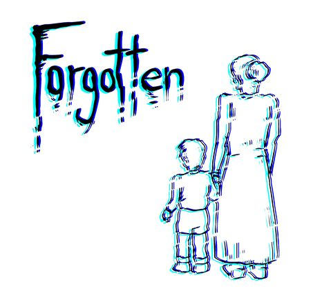forgotten: art forgotten message Illustration