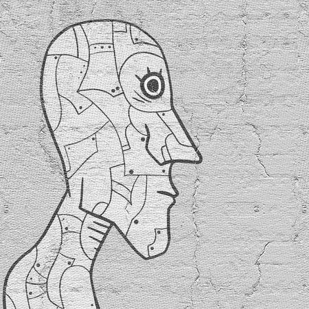 robot face: Face robot