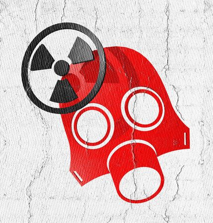 respiratory protection: Radiation red mask