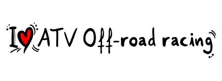 atv: ATV Off road racing love Illustration