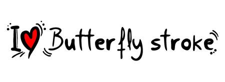 butterfly stroke: butterfly stroke love