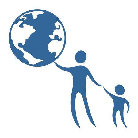 lactancia materna: mundo infantil proteger s�mbolo Vectores