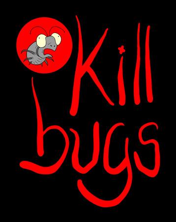 kill bugs symbol Illustration