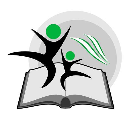 educative: educative book symbol Illustration