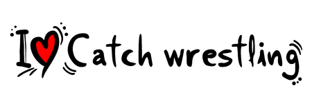 catch wrestling: Catch wrestling love Illustration