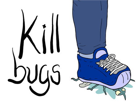 kill: kill bugs illustration Illustration