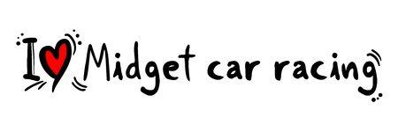 Midget car racing love