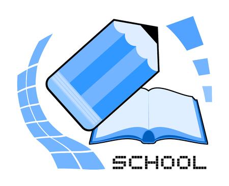 school blue symbol 向量圖像