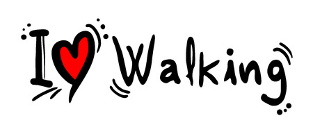 Walking love message