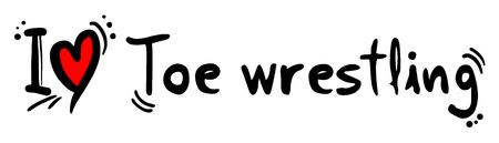 Toe wrestling love message
