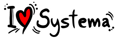 systema love message Stock Illustratie