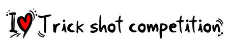 Trick shot competition Stock Illustratie