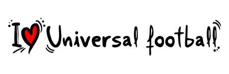 Universal football love message