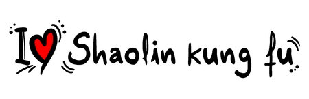 shaolin kung fu love message Illustration