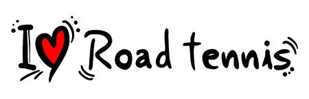 Road tennis love message Stock Illustratie