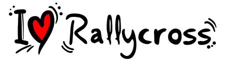 I love Rallycross message Illustration