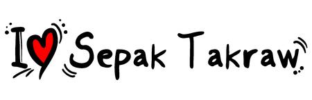 Sepak Takraw love symbol