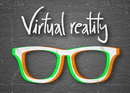reality: Virtual reality Stock Photo