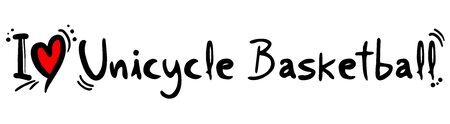 unicycle: Unicycle Basketball love Illustration