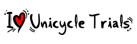 unicycle: Unicycle Trials love Illustration