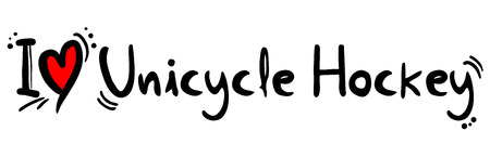 unicycle: Unicycle Hockey love