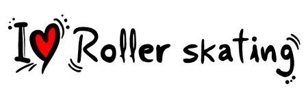 roller skating: Roller skating love