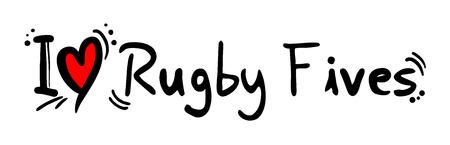 quadrant: Rugby Fives love Illustration