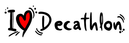 decathlon: Decathlon love Illustration