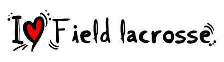 fanatic: Field lacrosse love Illustration