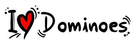 dominoes: Dominoes love Illustration