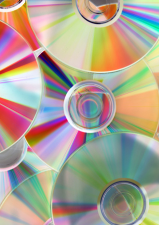 cds: colorful cds background
