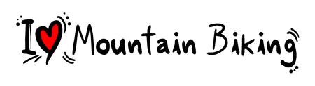 mountain biking: Mountain Biking love