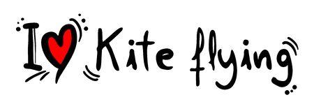 kite flying: Kite flying love