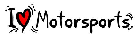 motorsports: Motorsports love Illustration