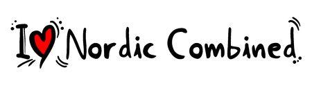 nordic: Nordic Combined love Illustration